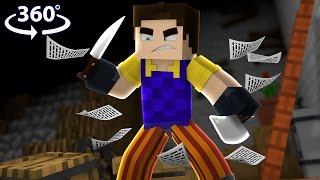 Hello Neighbor - 360° Minecraft Video (Hello Neighbor Minecraft Roleplay)