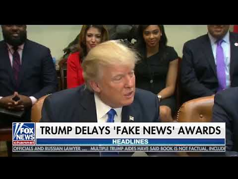 Fox And Friends Were Giddy At Notion Trump Giving Trophies For His Fake News Awards Mp3