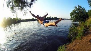 Скетч - правила поведения на речке | Неудачные прыжки в воду (пластом) | Наши в Египте