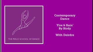 Contemporary Dance 14yrs + 'Fire and Rain' with Deirdre