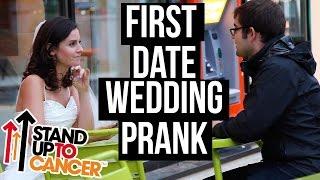 Смотреть онлайн Девушка идет на первое знакомство с парнем в свадебном платье