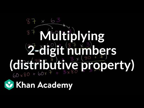 Multiplying With Distributive Property Video Khan Academy