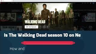 The Walking Dead season 10 is now on Netflix! How? Where?