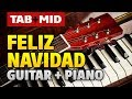 Jose Feliciano - Feliz Navidad Karaoke (Guitar Pro TABS and Piano MIDI tutorial)