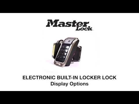 3685 Electronic Built-In Locker Lock Display Options - Training