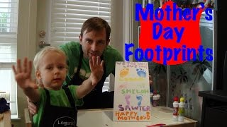 Mothers Day Footprint Craft For Toddlers - Logans Life