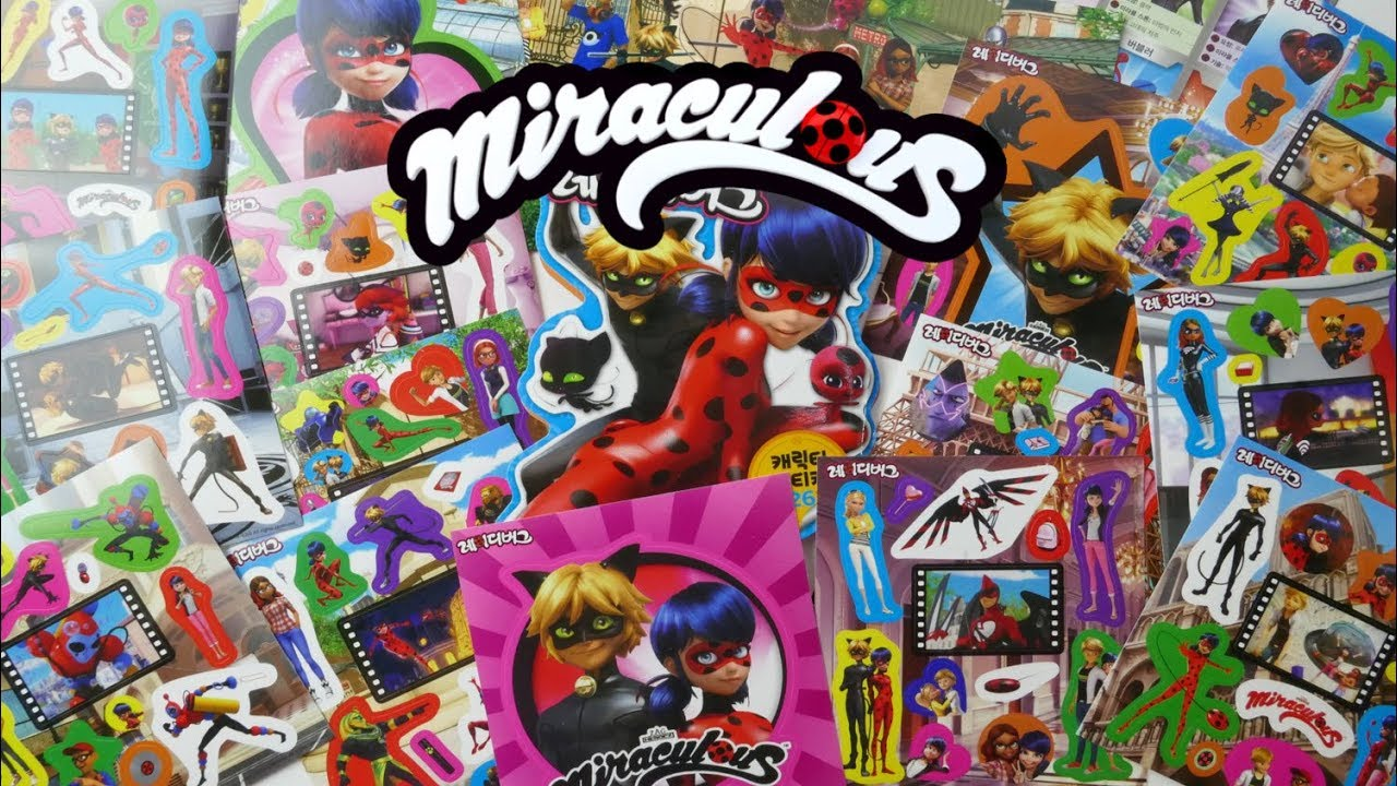 Miraculous Ladybug and Cat Noir Sticker and Activity Book with Episode Scenes