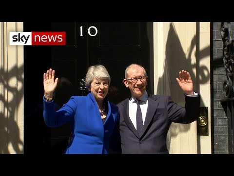 Theresa May waves goodbye to Number 10