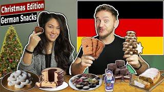 American GF Tries German Christmas Snacks & Candy!!
