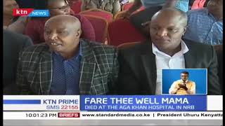 President Kenyatta among mourners who joined families and friends during the funeral of PK's mother