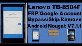 How to Bypass Google Account LENOVO Tab 4 - Unlcok FRP in LENOVO