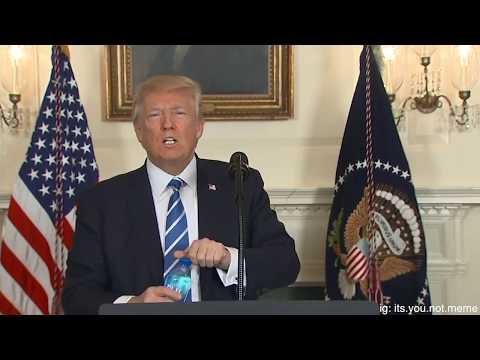 Donald Trump Drinks Water Meme