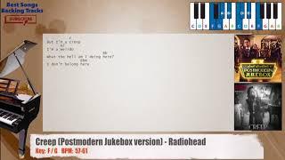 Creep (Postmodern Jukebox Version)   Radiohead Piano Backing Track With Chords And Lyrics