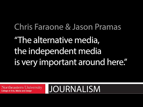 """The alternative media, the independent media is very important around here."""