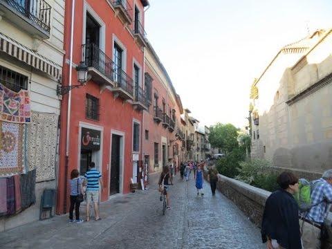 Granada, Spain - Carrera del Darro romantic river walk