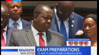 Education CS Fred Matiang'i maintains that the exam dates will not be changed