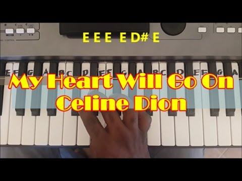 My Heart Will Go On Easy Piano Keyboard Tutorial - Titanic Theme
