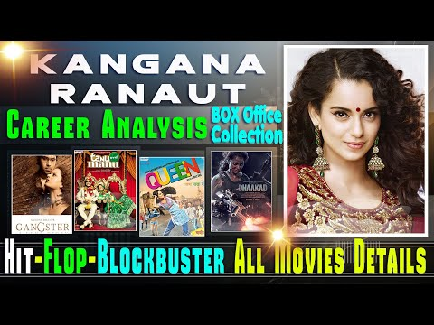Kangana Ranuat Box Office Collection Analysis Hit and Flop Blockbuster All Movies List.