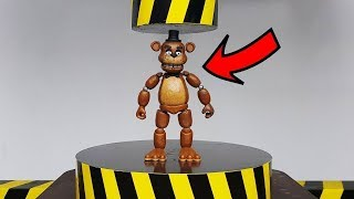 EXPERIMENT HYDRAULIC PRESS 100 TON vs Five Nights at Freddy (FNAF Action Figure)