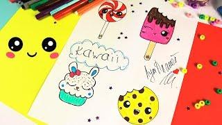 Как нарисовать Кавайные сладости.
