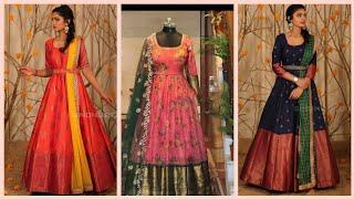 Best 70 Saree Dress Designs/ Reuse Saree Into Dress Designs/ Latest Convert Saree Into Dress Designs