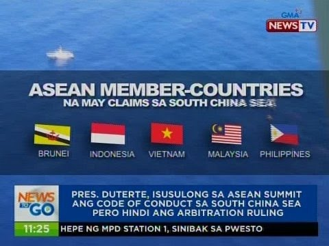 NTG: Pres. Duterte, isusulong sa ASEAN Summit ang code of conduct sa South China Sea