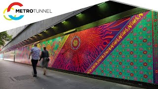 Nixi Killick's colourful designs with a twist at Town Hall Station