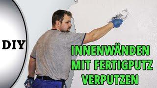 Verputzen von Innenwänden mit Fertigputz, Reibeputz  / von M1Molter