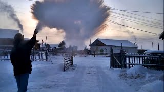-56°C (-69°F) from Yakutsk to Oymyakon in winter - THE MOVIE [HD] 2015