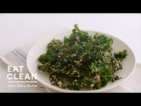Video Crispy Sesame Kale Chips - Eat Clean with Shira Bocar