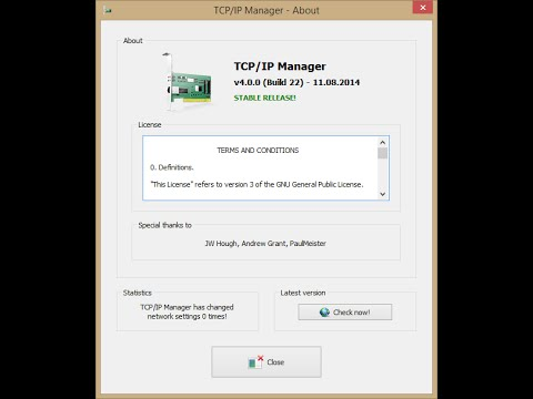 TCP/IP Manager download | SourceForge net