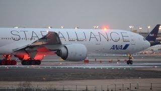 ANANH1010便ニューヨークへ向け成田空港を離陸