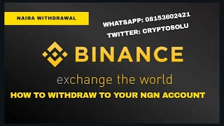 How to convert any crypto to naira on Binance and withdraw to your Bank Account #Bitcoin