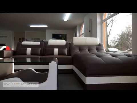 Sofa-Dreams Designer Couch Wohnlandschaft Leder  Wave L-Form