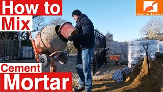 BRICKLAYING HOW TO MIX CEMNET MORTAR