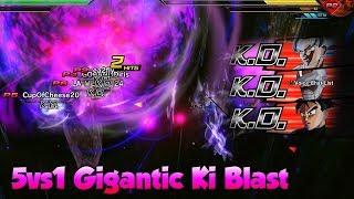 Gigantic Ki Blast DESTROYS 5v1 Crystal Raid Battle! DLC 8 Free Update - Dragon Ball Xenoverse 2