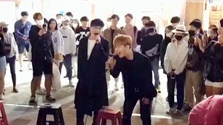 A Teen Street Performer Gets Ultimate Surprise When Original Singer Joins [ENG Sub]