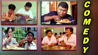 Kannada Comedy Videos || Kannada Funny Eating Comedy Scenes || Compilation || Kannadiga Gold Films