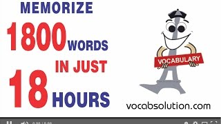 Learn how to memorize 100 words @ per hour