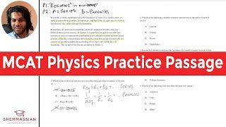 99th Percentile Scorer Analyzes an MCAT Physics Practice Passage