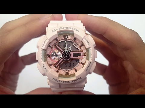 CASIO G-SHOCK WATCH GMA-S110PM-4A1 UNBOXING