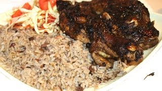 HOW - TO COOK REAL JAMAICAN JERK CHICKEN HOT SPICY CARIBBEAN MEAL RECIPE 2014