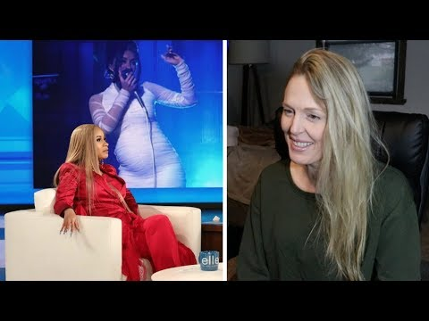 Mom REACTS to Cardi B Showed Ellen How She Got Pregnant