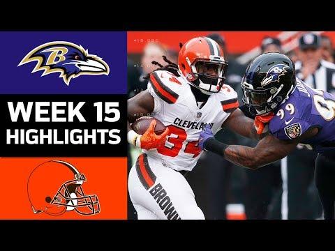 Ravens vs. Browns | NFL Week 15 Game Highlights