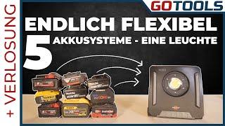 REVOLUTION ! 5 Akku Systeme, ein Strahler! Das neue Multi Battery System Brennenstuhl | + Verlosung