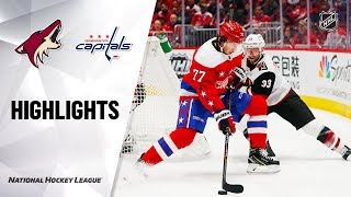 NHL Highlights | Coyotes @ Capitals 11/11/19