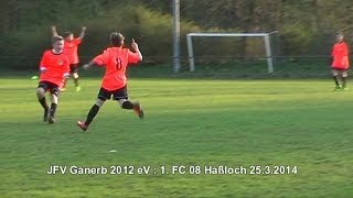 preview picture of video 'JFV Ganerb 2012 : 1. FC 08 Haßloch 25.3.2014'