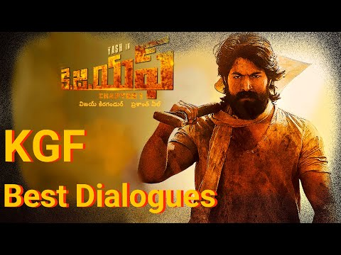 KGF Dialogues | Yash | Srinidhi  Shetty | KOLAR GOLD FIELDS || Best Vibes