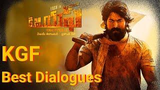 KGF Dialogues | Yash | Srinidhi  Shetty | KOLAR GOLD FIELDS || Best Vibes