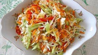 """Легкий овощной салат """"Мамина фантазия 3"""" от НАХВАЛЮ без майонеза."""